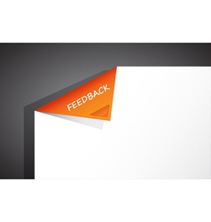 folded paper vector image