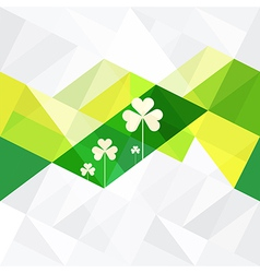 patrick day background vector image vector image
