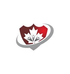 canada community logo template vector image
