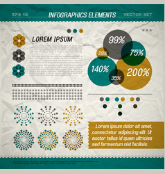 circle infographic elements vector image vector image