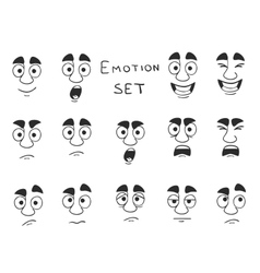 Facial Avatar Emotions Icons Set vector image vector image