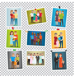 family portrait set marriage birthday holiday vector image