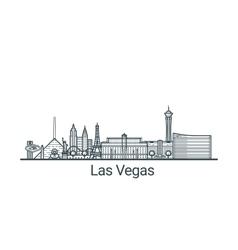 Outline Las Vegas banner vector image
