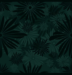 seamless floral pattern with green and gray vector image