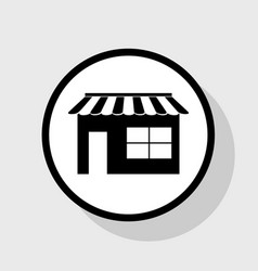 store sign flat black icon vector image vector image