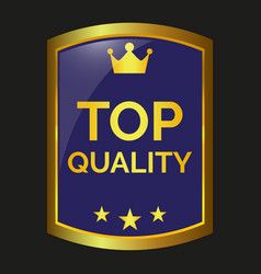 top quality label vector image