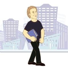 Young man cartoon character vector image