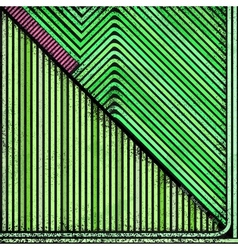 Green grunge striped background vector image