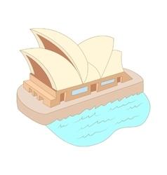 Sydney opera house icon cartoon style vector image
