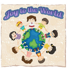 A joy to the world template vector image
