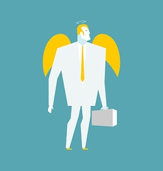Angel businessman Cherub paradise manager Guardian vector