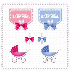 Baby meal logo and identity vector