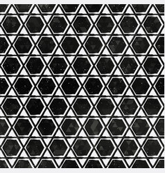 black mosaic pattern with grunge effect vector image