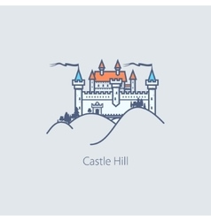 Castle Hill Design Element vector