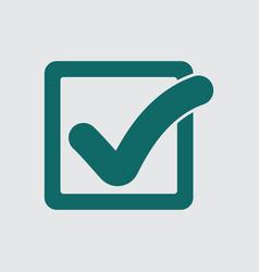 check mark button in square icon flat vector image