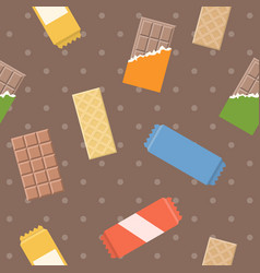 Chocolate and wafer pattern vector