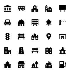 City Elements Icons 3 vector