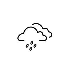 cloud rain icon black vector image