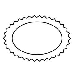 Contour oval cloud bubble icon vector