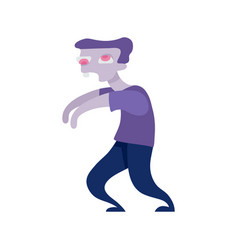 cute male walking zombie vector image