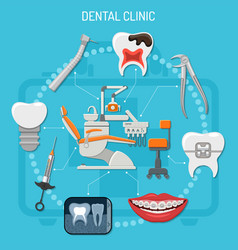 dental clinic concept vector image