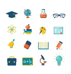 Education Flat Icons vector image