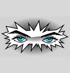 Eyes are blue in the style of manga and anime vector