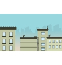 Flat design city landscape vector