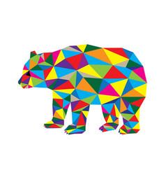 geometric bear vector image