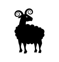 goat animal capricorn icon graphic vector image