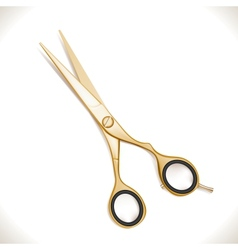 Golden Scissors vector