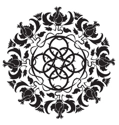 Gothic ornament tattoo vector
