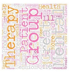 Group Therapy Tips text background wordcloud vector image