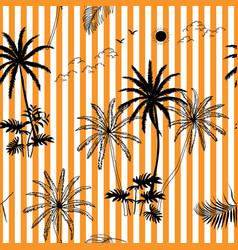 Hand drawn tropical botanical seamless pattern vector