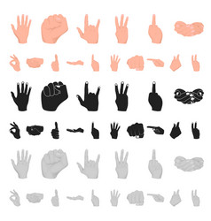 hand gesture cartoon icons in set collection for vector image