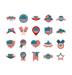 Happy independence day american flag national vector