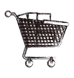 Isolated shopping cart design vector