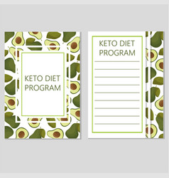 Ketogenic diet template low carbs high healthy vector