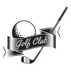 label golf logo golf championship vector image