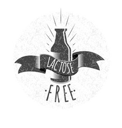 lactose free logo or icon vector image