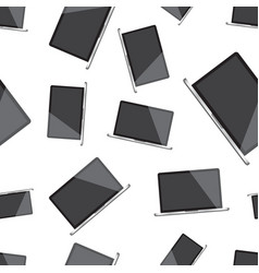laptop computer seamless pattern background vector image