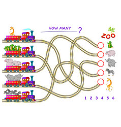 Logic puzzle game for children with labyrinth vector