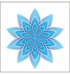 Lotus flower blue vector