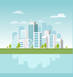 modern urban landscape with vector image