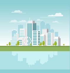 Modern urban landscape with vector