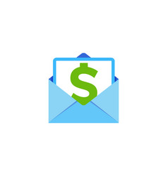 money mail logo icon design vector image