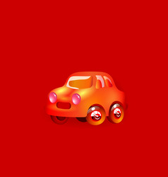 most top-end toy car red color in style funny vector image