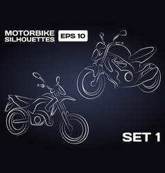 Motorbikes silhouettes vector