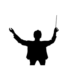 Music conductor back from a birds eye view vector