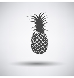 Pineapple icon on gray background vector image